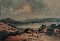 Print of:  Louis Le Breton, Port Otago 1840