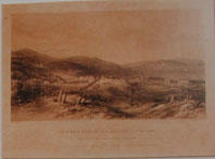 Print of: Charles Henry Kettler, View of Part of Dunedin, and Upper Harbour, from Stafford Street