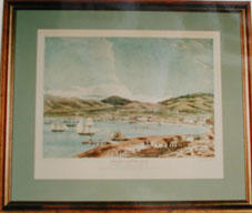 Print of: Charles Heaphy, Lambton Harbour and Wellington, April 1841