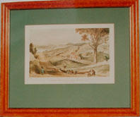 Print of: Samuel Brees, View looking down Hawkestone Street, Wellington, with Mr Brees' cottage.  [1845?]