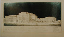 Sketch of WCC Administration Building, Mercer & Wakefield Streets