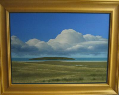Clouds, Island, Dunes; ART00263