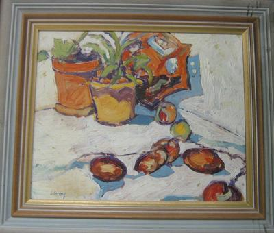 [Still life - pottery and fruit]