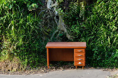 Pine Desk with Veneer, Wellington (1/5)