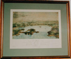 Birdseye view of Port Nicholson in New Zealand, by Charles Heaphy - Print