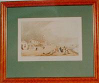 Print of: Samuel Brees, Barrett's Hotel and Lambton Quay, Wellington ca.1843
