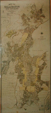 Map of Wellington and Environs