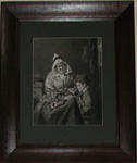 [Seated old woman and child]